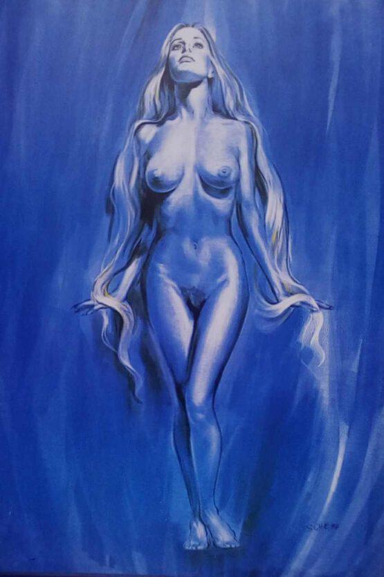 traumfrau in blau